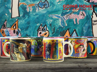 美丽的插画马克杯 随手杯 陶瓷水杯 杯子,杯子,