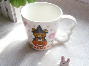 San-X日单陶瓷Rilakkuma 轻松小熊 轻松熊 懒熊耳状柄奶杯A款,杯子,