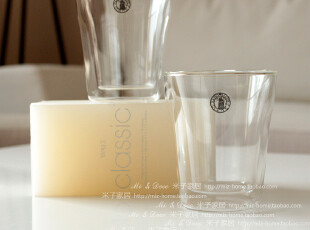 米子家居 居家用品牛奶杯 双层玻璃杯 两件套出售,杯子,