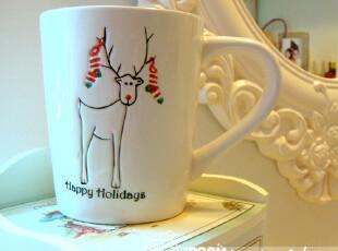 fresh 麋鹿 小清新 杯子 创意陶瓷马克杯/原单咖啡杯/早餐杯,杯子,