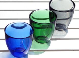 WUSE 周年特价 创意时尚彩色玻璃水杯 果汁杯 饮料杯 厚重质感,杯子,