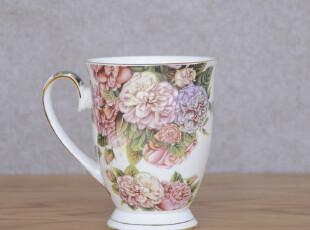 经典韩式-出口韩国礼盒装冰岛玫瑰咖啡杯 水杯 情侣杯 送勺子,杯子,