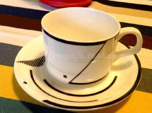 Eco cafe 园律春潮 创意 简约 陶瓷咖啡杯 套装 杯碟,杯子,