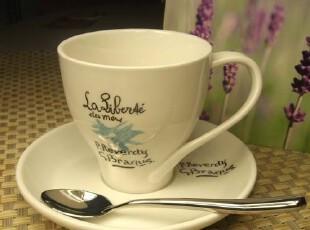 亿客咖啡 日韩简约风 优质陶瓷咖啡杯-乐芙迪 杯碟 套装,杯子,