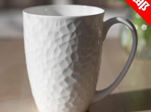 纯白色马克杯情侣杯水杯牛奶茶杯咖啡杯创意骨瓷杯陶瓷杯子带盖勺,杯子,