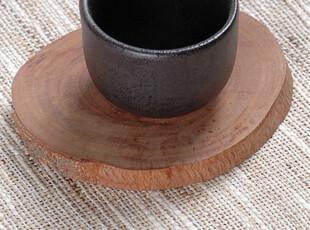 【MU 木】原生态荔枝原木 手工制作 茶杯垫 创意杯垫 木杯垫,杯子,