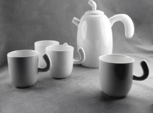 出口欧洲 新宫廷手工骨质瓷 创意咖啡茶具杯壶 上日 五件礼品套装,杯子,