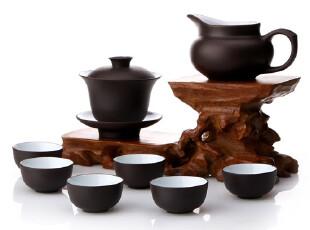 拍套餐送闻香杯 宜兴正品 功夫茶具套装 紫砂茶具套装(多色),杯子,