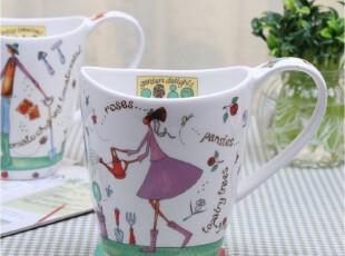 马克杯茶水杯咖啡情侣对杯牛奶杯创意杯子可爱骨瓷杯陶瓷大早餐杯,杯子,