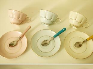 独家设计 云朵小姐 碟杯 咖啡杯 莲花杯 玉瓷 一杯一碟,杯子,