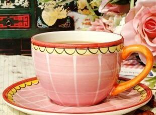 荷兰BLONDAMSTERDAM手绘陶瓷/快乐太太早餐牛奶粉色咖啡杯/燕麦杯,杯子,