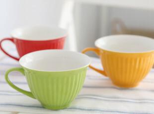 【爱味食器】三色杯/色釉/陶瓷/餐具 280g,杯子,
