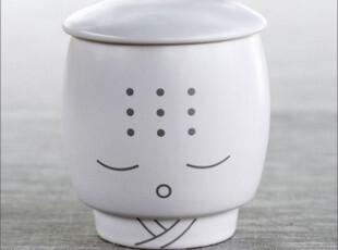 千度悠品 卡通复古风 创意陶瓷杯子 佛学沙弥杯 随手杯,杯子,