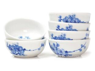 顶级瓷器 陶圣居1914梅香小茶盏 复刻版 手绘青花茶杯 纯正青花杯,杯子,