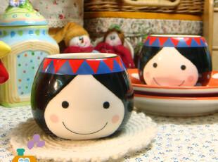 杯子 创意 韩国娃娃陶瓷茶杯/茶碗/甜品杯,杯子,