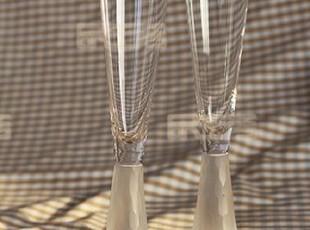 出口原单手工透明磨刻鱼鳞水晶玻璃香槟杯红酒杯套装 婚庆酒具,杯子,