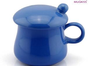 麦格士MUGKISS陶瓷杯 礼品杯 带盖蘑菇色釉杯 不变色杯,杯子,