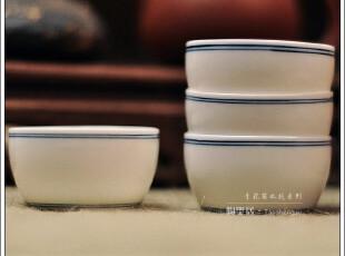 顶级瓷器 陶圣居青花茶杯㊣手绘小水缸『简双线』16元/颗 青花杯,杯子,