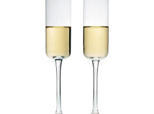 WUSE 简约风 吹制无铅水晶玻璃香槟杯/高脚杯/起泡酒杯,杯子,