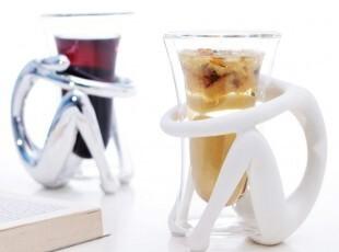 卓尔家居 双层隔热创意玻璃杯/咖啡杯/情侣杯/茶水杯 全国包邮,杯子,