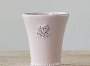 北欧表情/陶瓷美克美家法式乡村浮雕餐具/粉色森女马克杯奶杯牙缸,杯子,