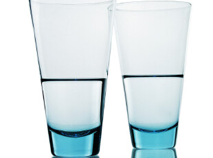 WUSE 蓝色诱惑 吹制无铅玻璃杯 饮料杯 冷饮杯 果汁杯 超大广口,杯子,