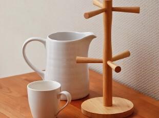 橡木杯架子 悬挂 倒挂ZAKKA厨房收纳架 宜家挂件挂架厨房用具日本,杯子,