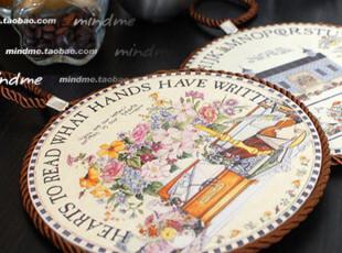 法式乡村装饰画 欧式田园锅垫隔热垫碗垫杯垫 陶瓷软木双面用多款,杯子,