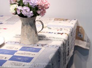 米子家居 幸福小窝Zakka全棉卡通人物加厚盖布茶几布桌布,桌布,