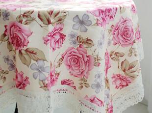 全民疯抢特价!浓情紫玫瑰 布艺桌布 多用巾 提花沙发盖布 餐桌布,桌布,