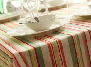 纯棉活性帆布 桌布/台布/餐桌布/桌旗/盖布 樱花花旦 条纹,桌布,