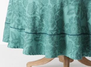 【纽约下城公园】清新木兰花钩织纹纯棉桌布(多色 长方形/圆形),桌布,