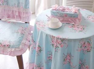 韩版田园荷叶边嵌蕾丝款纯棉桌布盖布,桌布,