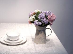 米子家居 家居必备餐桌装饰品台布盖布盖巾 简约涤棉尚暗花桌布,桌布,