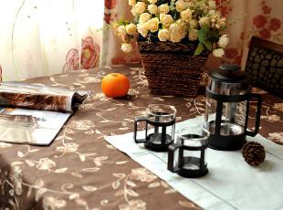 JF2915 高端外贸出口到北欧国家地区 棉麻双色毛线绣桌布,桌布,