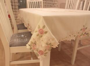 外贸出口贡缎镂空绣花布艺电视电脑盖布茶几布圆桌布台布餐桌布,桌布,