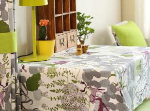 北欧 森系 纯棉 餐桌布 盖布 台布 童话谷系列,桌布,