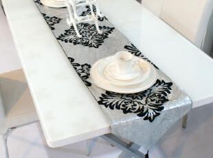 小艾 烫银 欧式桌旗时尚奢华简约 餐桌茶几桌旗餐旗餐垫桌垫现代,桌布,