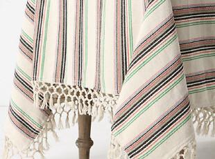 【纽约下城公园】 大气乡村风格麦穗流苏桌布(182x228厘米)现货,桌布,