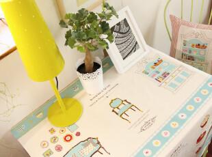 韩式 卡通 小萝莉 棉麻 桌布 台布 盖布 餐桌布 DreamHouse 系列,桌布,