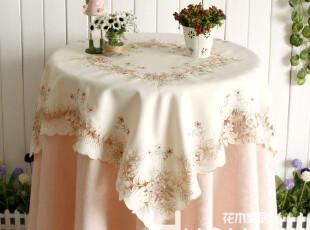 花木家居 布艺软饰 盘垫餐桌布台布 上野樱花精致镂空雕绣 全尺寸,桌布,