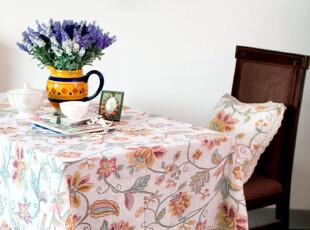 田园风格 曼荼罗 棉麻手工扎染桌布台布椅套茶几布 装饰布艺,桌布,