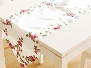6705 品味生活 彩色绣花桌旗 餐垫 茶几台布 餐桌布 田园,桌布,
