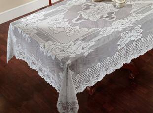 【纽约下城公园】 维多利亚玫瑰镂空雕花台布/桌布 白色奶油色,桌布,
