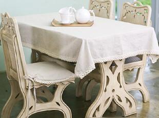 日式韩式原色环保健康自然花边桌布台布盖布手工制品可定做定制,桌布,