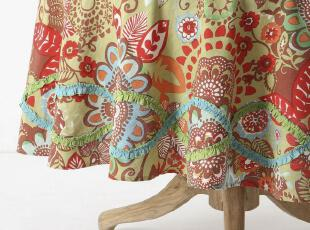 【纽约下城公园】多彩塔希提刺绣花边桌布 (五种尺寸),桌布,