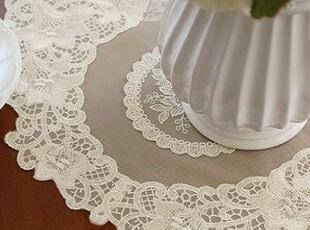 韩国正品代购 优雅精致蕾丝绣花桌旗桌布 桌垫 装饰垫,桌布,