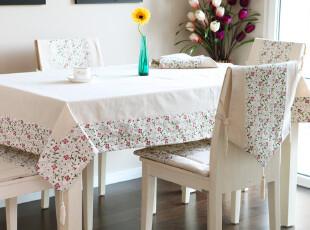 8502 麻布绣花 桌布田园 餐椅套椅套 餐桌布 布艺 椅套 台布 桌旗,桌布,