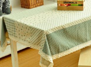 新款苏格碎花 田园布艺亚麻桌布|台布|餐桌布|茶几布|三色 多尺寸,桌布,