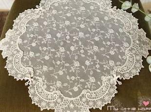 韩国直送 韩国进口高品质蕾丝垫/蕾丝桌旗 高档蕾丝餐垫 米黄色,桌布,